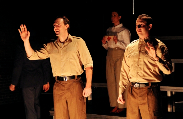 Bryant Martin*, Melissa Krodman and Scott Sheppard in Pig Iron's Gentlemen Volunteers