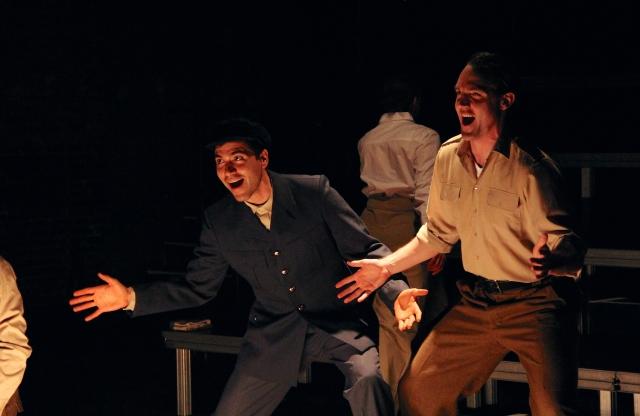 Michael Castillejos* and Bryant Martin* in Pig Iron's Gentlemen Volunteers
