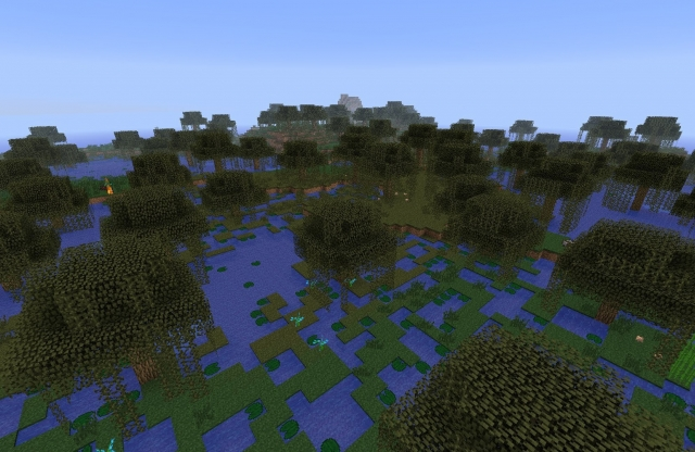 Minecraft swamp (image source: http://i.ytimg.com/vi/KhxrCgC6UYE/maxresdefault.jpg)